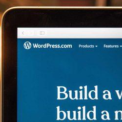 Top corner of laptop on Wordpress website